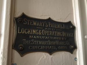 shield of Stewart Iron Works at Alcatraz